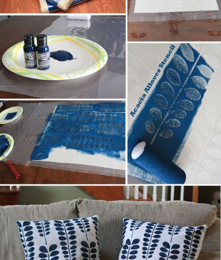 Acacia Allover Stenciled Pillow Shams