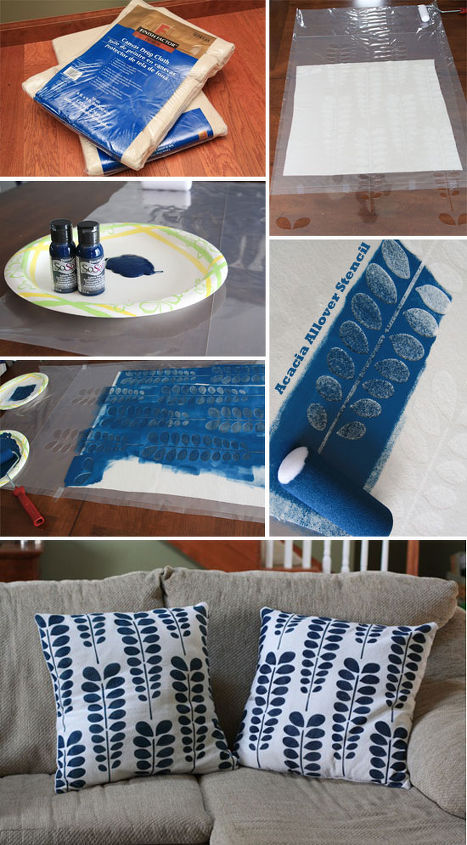 Acacia Allover Stenciled Pillow Shams