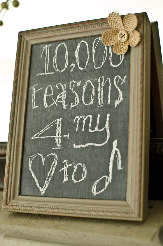 diy distressed frame chalkboard, chalkboard paint, crafts, Upcycle an unused frame to add to your decor