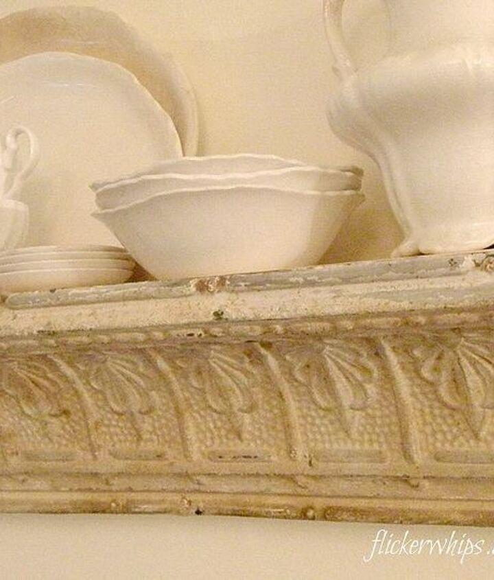 making old tin molding into a shelf, repurposing upcycling, shelving ideas
