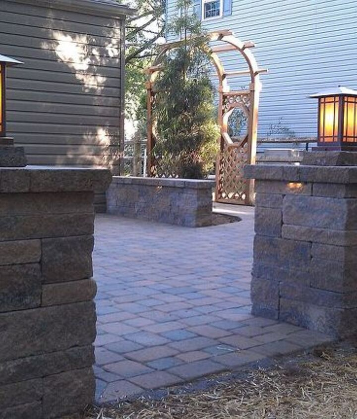 paver patio, concrete masonry, patio