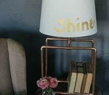 diy copper lamp, crafts, home decor, lighting, repurposing upcycling