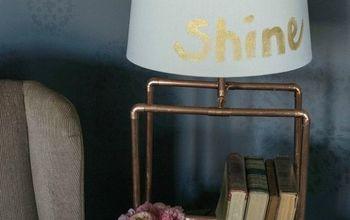 diy copper lamp, crafts, home decor, lighting, repurposing upcycling