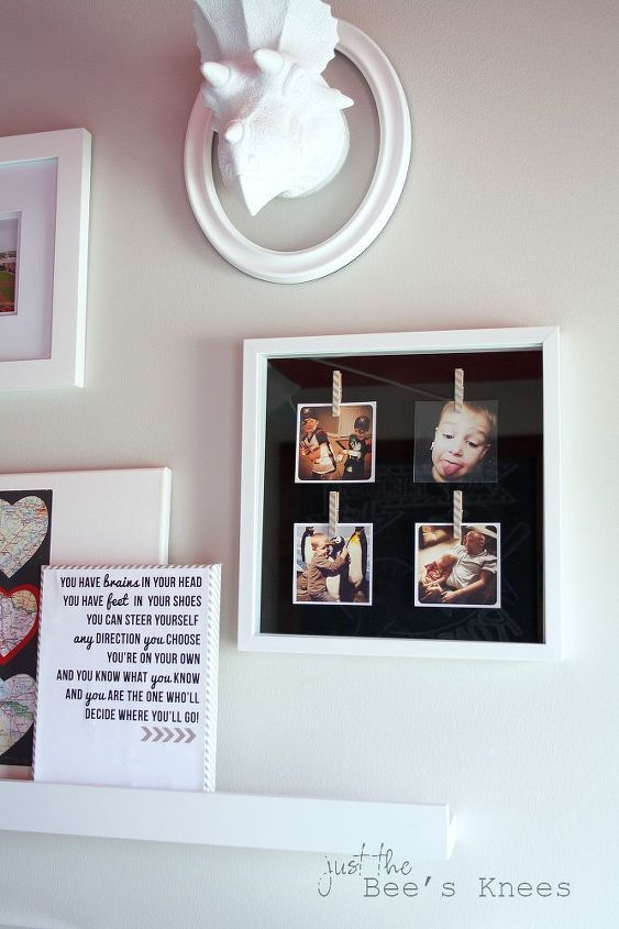 A DIY instagram shadow box is perfect for swapping out those fun photos!