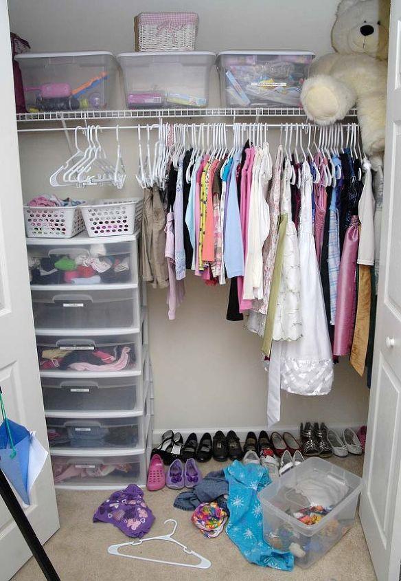 Here's the kid's closet before.