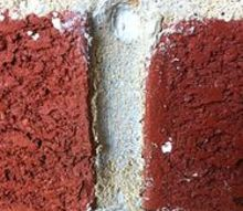 honey bee problems already, pest control, Two chewed holes in brick mortar