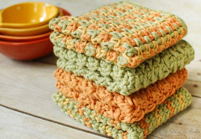 Crunchy Stitch Crochet Dishcloth Pattern Hometalk