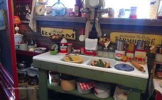 a new potting bench, gardening, outdoor living, A fun old kitchen sink repurposed into a potting bench with rough boards Here it is in the shop