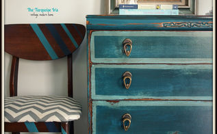 10 diy transformations, painted furniture, Teal Petite Dresser via The Turquoise Iris