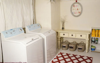 Basement Laundry Room Redo-Before and After