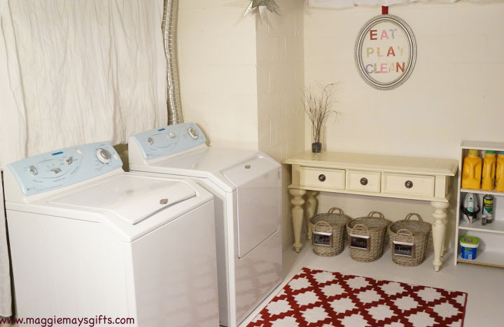 basement laundry room redo before and after, basement ideas, home decor, laundry rooms