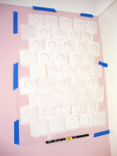 pretty in pink stenciled polka dots, bedroom ideas, diy, painting