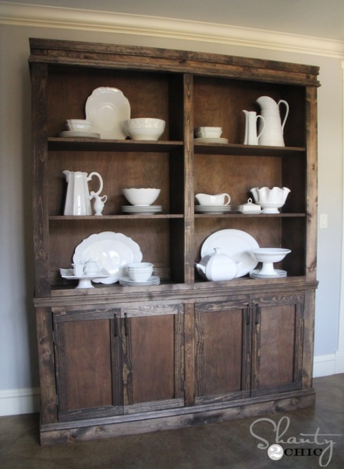 Diy Dining Room Sideboard And Hutch Restoration Hardware