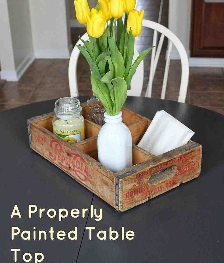 properly painted table top, home decor, painted furniture