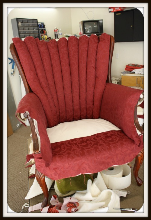 recovering channel back chairs