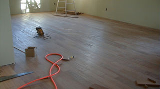 q replacing bedroom carpet with wood click flooring or real wood, flooring, hardwood floors, 5 Jatoba being installed