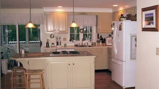 q what would you do with this space, home decor, kitchen cabinets, kitchen design, a little paint goes a long way
