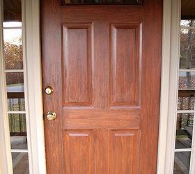front door redo using faux wood grain technique doors painting Here s a closeup & Front Door Redo Using Faux Wood Grain Technique | Hometalk Pezcame.Com