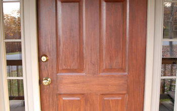 Front Door Redo Using Faux Wood Grain Technique