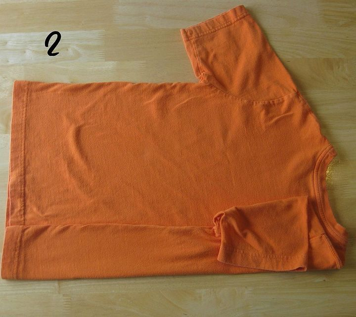 how to fold and organize your t shirts, organizing, 2 Fold about 1 4 of the shirt in