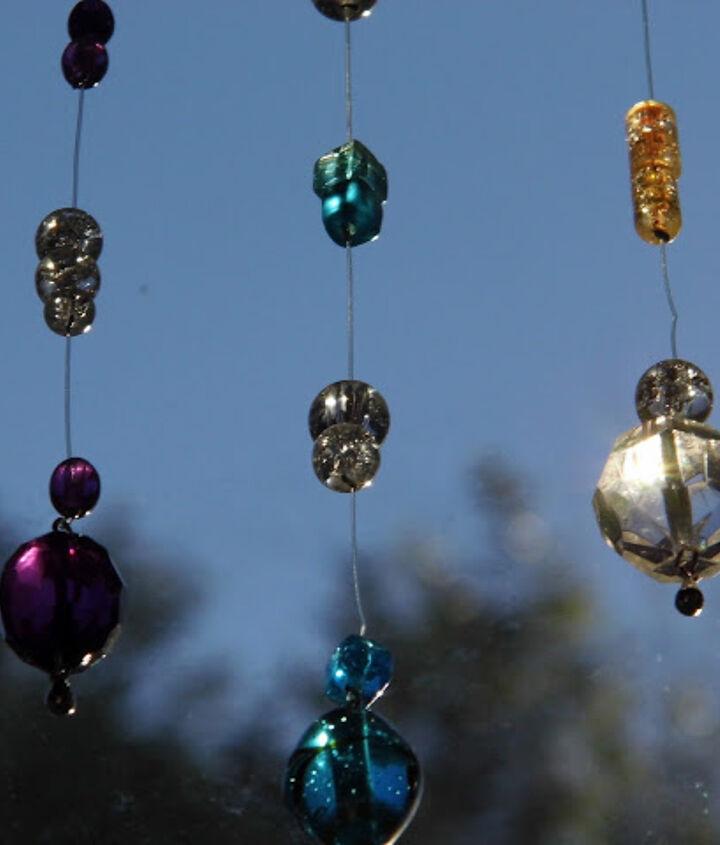 beaded sun catchers, crafts