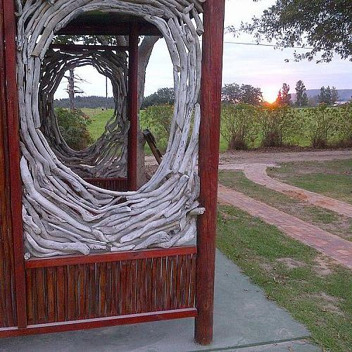 bus shelter at rocky road backpackers south africa, diy, outdoor living, woodworking projects, Outside view of the bus shelter