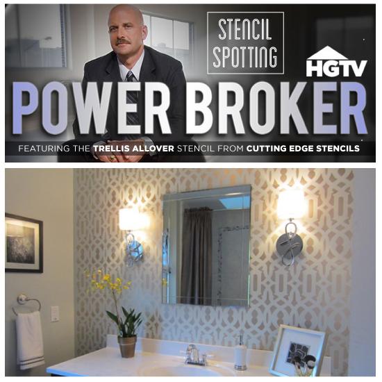 hgtv s power broker features trellis allover stencil, home decor, painting, wall decor