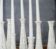 creating distressed candlesticks from glass bud vases, crafts