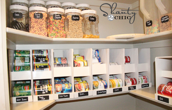 Diy canned food organizers hometalk for Cost to build a pantry