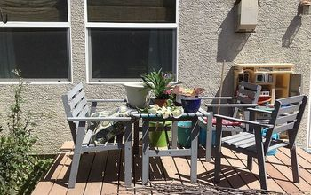 deck makeover progress, decks, outdoor furniture, outdoor living, Deck Before