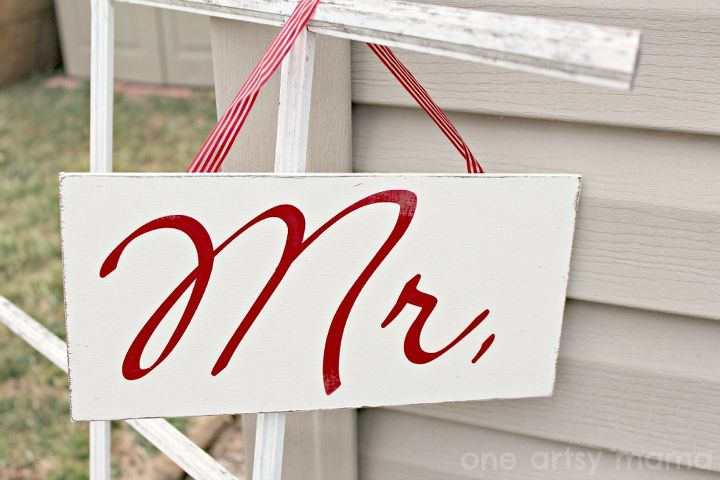 rustic mr and mrs wedding signs, crafts, repurposing upcycling