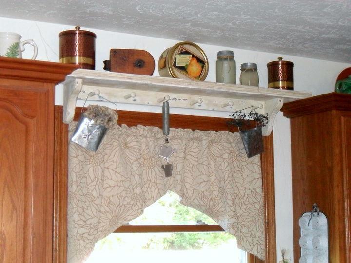 repurposing wall shelf to window shelf no tools, shelving ideas, windows