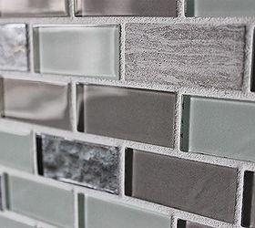 Diy Glass Tile Accent Wall In Master Bathroom, Bathroom Ideas, Home Decor,  Tiling