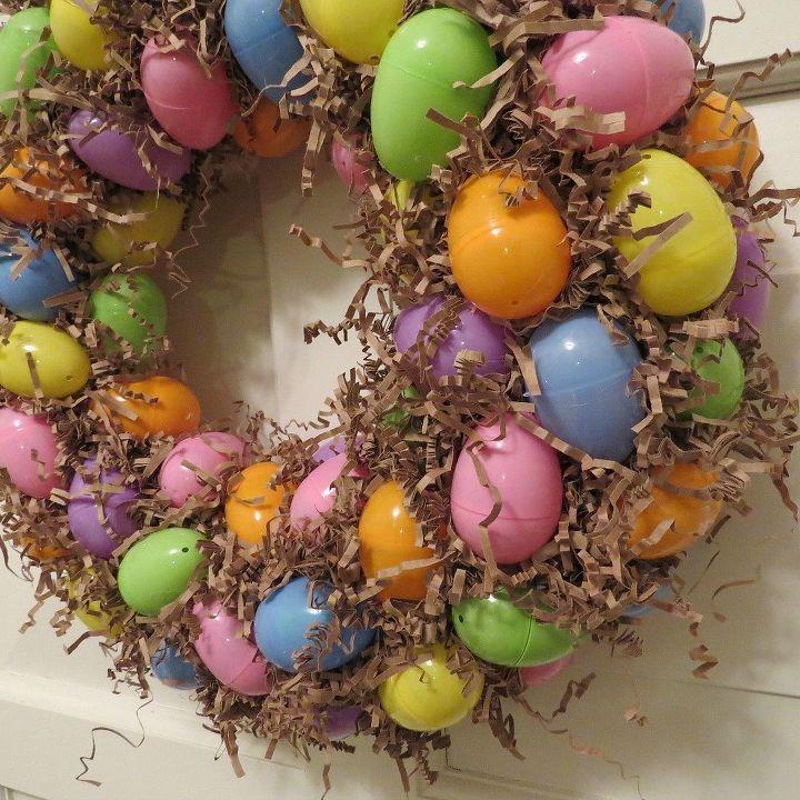 Homemade Easter Egg Wreath