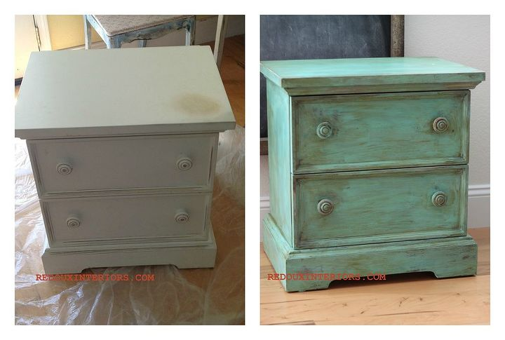 Update an old Nightstand with CeCe Caldwell's paints, Glaze and their magic Aging Dust.  I show you step by step how to get his look.