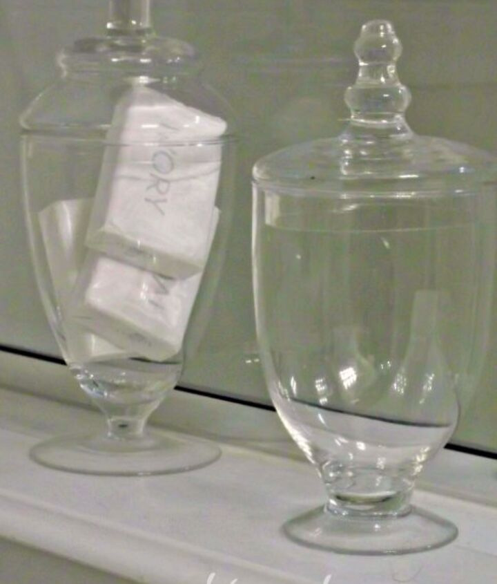 apothecary jars make beautiful accessories..even when they're empty