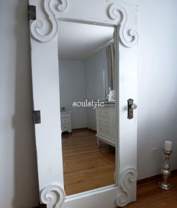 creating a vintage door from an ikea mirror, doors, painting