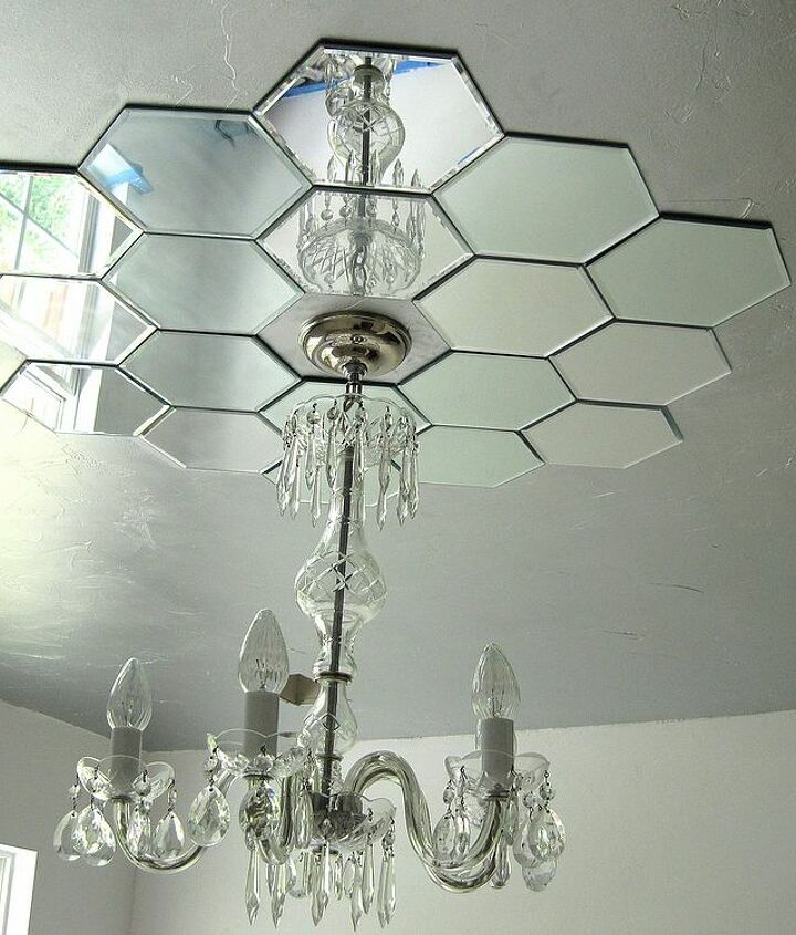 DIY mirrored ceiling medallion by Bella Tucker Decorative Finishes