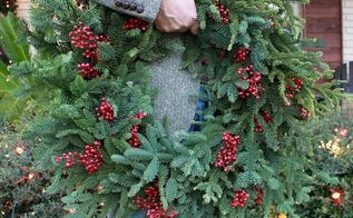 make your own pine wreaths, crafts, seasonal holiday decor, My finished and ALMOST free pine wreath Pretty simple
