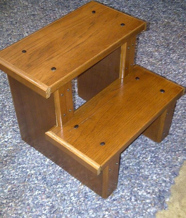 kitchen step stool, home decor, woodworking projects