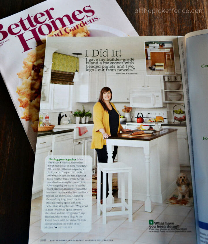 how to recreate this kitchen island featured in Better Homes and Gardens