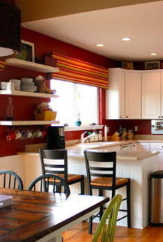 painted kitchen cabinets and beadboard, home decor, painting, shelving ideas, woodworking projects
