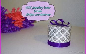 DIY Pretty Small Box From Chips Container