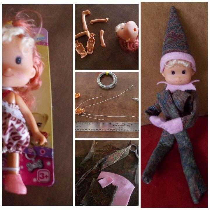 diy pixie elf on shelf, christmas decorations, crafts, seasonal holiday decor