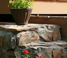 diy stone steps you can do it too, concrete masonry, curb appeal, diy, outdoor living, Set of Steps in the backyard that lead to the play area