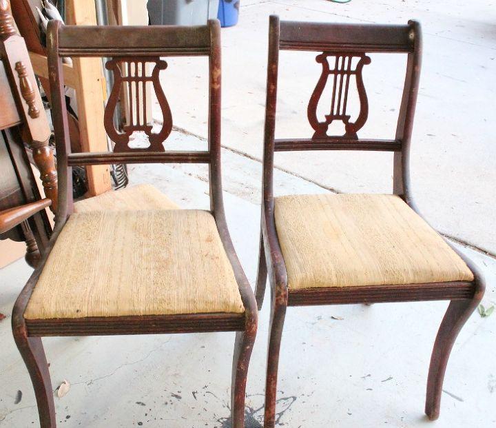 The before chairs... eeek!