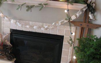 Christmas Mantel...using what I had...