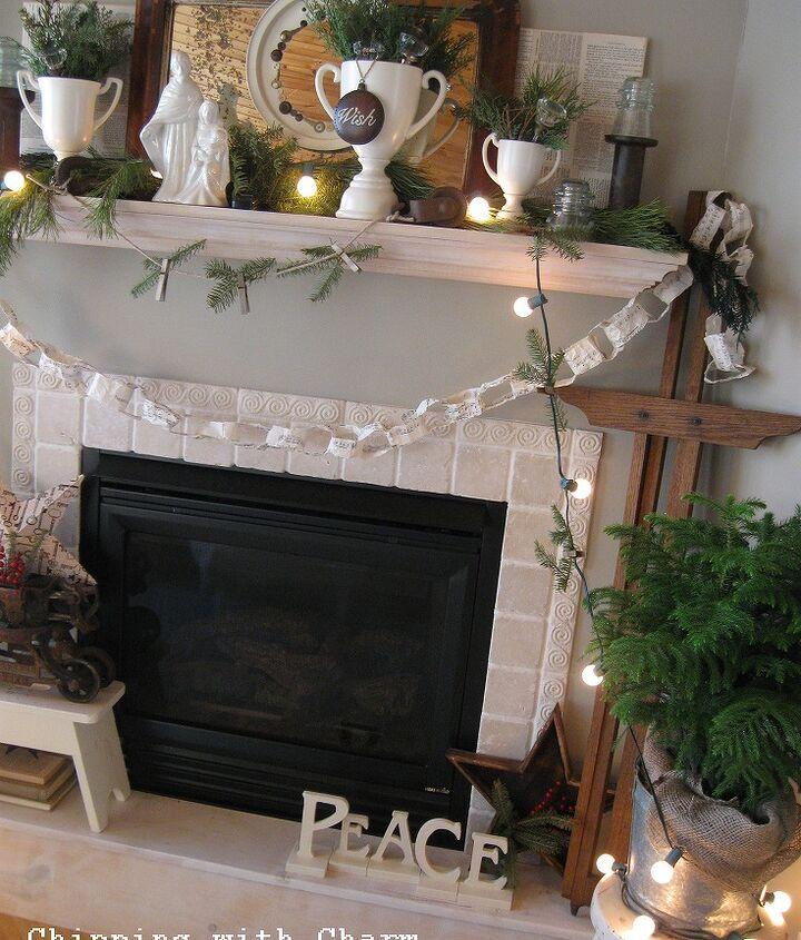 christmas mantel using what i had, seasonal holiday d cor