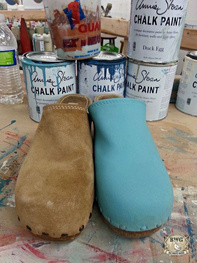 painting shoes or clogs with chalk paint by annie sloan, chalk paint, painting, repurposing upcycling