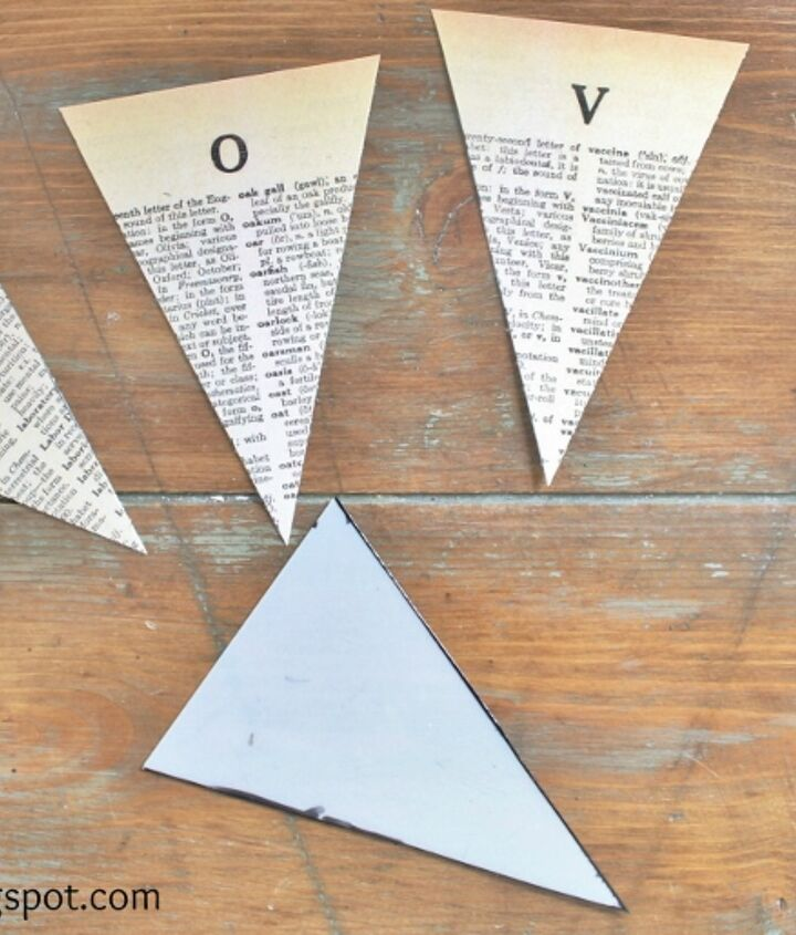 dictionary page pennant banner printables, crafts, home decor